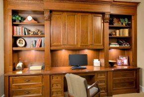 Кабинет kab84250 по индивидуальным размерам на заказ, материалы из лдсп мдф расцветка — коричневый в интернет магазине mebelblok.ru