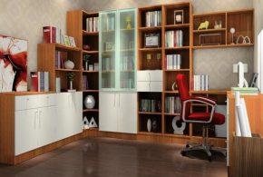 Кабинет kab48912 по индивидуальным размерам на заказ, материалы из лдсп мдф стекла эмали расцветка — коричневый белый в интернет магазине mebelblok.ru