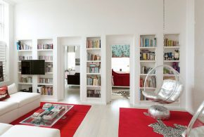 Библиотека bib63534 по индивидуальным размерам на заказ, материалы из лдсп мдф расцветка — белый в интернет магазине mebelblok.ru