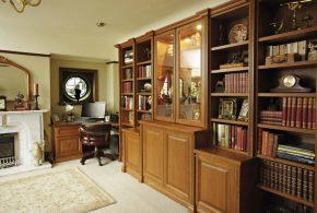 Библиотека bib60495 по индивидуальным размерам на заказ, материалы из лдсп мдф расцветка — коричневый в интернет магазине mebelblok.ru