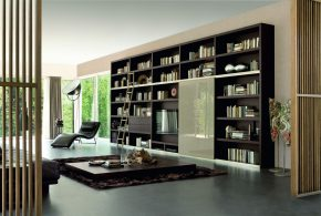 Библиотека bib65328 по индивидуальным размерам на заказ, материалы из лдсп мдф стекла расцветка — черный в интернет магазине mebelblok.ru