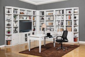 Библиотека bib99463 по индивидуальным размерам на заказ, материалы из лдсп мдф расцветка — белый в интернет магазине mebelblok.ru