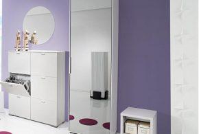 Прихожая pri69836 по индивидуальным размерам на заказ, материалы из лдсп мдф эмали расцветка — белый в интернет магазине mebelblok.ru