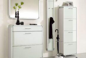 Прихожая pri46465 по индивидуальным размерам на заказ, материалы из лдсп мдф эмали расцветка — белый в интернет магазине mebelblok.ru