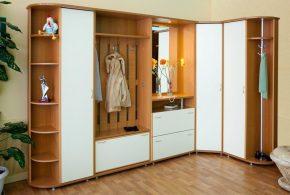 Прихожая pri96029 по индивидуальным размерам на заказ, материалы из массива дерева лдсп мдф расцветка — коричневый серый в интернет магазине mebelblok.ru