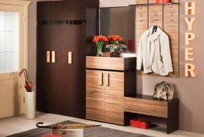 Прихожая pri90607 по индивидуальным размерам на заказ, материалы из лдсп мдф расцветка — коричневый в интернет магазине mebelblok.ru