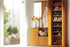 Прихожая pri68547 по индивидуальным размерам на заказ, материалы из массива дерева лдсп мдф расцветка — коричневый в интернет магазине mebelblok.ru