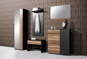 Прихожая pri22332 по индивидуальным размерам на заказ, материалы из лдсп мдф расцветка — коричневый черный в интернет магазине mebelblok.ru