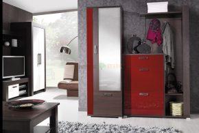 Прихожая pri89420 по индивидуальным размерам на заказ, материалы из лдсп мдф расцветка — бордовый коричневый в интернет магазине mebelblok.ru