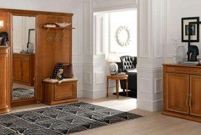 Прихожая pri46740 по индивидуальным размерам на заказ, материалы из лдсп мдф расцветка — коричневый в интернет магазине mebelblok.ru