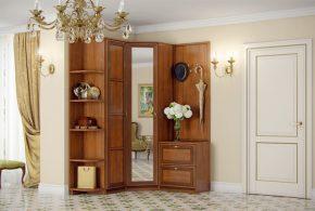 Прихожая pri77488 по индивидуальным размерам на заказ, материалы из массива дерева лдсп мдф расцветка — коричневый в интернет магазине mebelblok.ru
