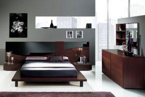 Спальня spa69736 по индивидуальным размерам на заказ, материалы из лдсп мдф расцветка — коричневый в интернет магазине mebelblok.ru
