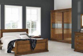 Спальня spa77233 по индивидуальным размерам на заказ, материалы из массива дерева лдсп мдф расцветка — коричневый в интернет магазине mebelblok.ru