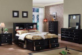 Спальня spa47598 по индивидуальным размерам на заказ, материалы из лдсп мдф расцветка — черный в интернет магазине mebelblok.ru