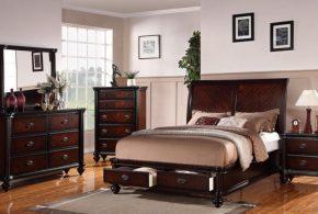 Спальня spa39158 по индивидуальным размерам на заказ, материалы из массива дерева лдсп мдф расцветка — коричневый в интернет магазине mebelblok.ru