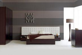 Спальня spa18056 по индивидуальным размерам на заказ, материалы из лдсп мдф эмали расцветка — черно-белый черный в интернет магазине mebelblok.ru