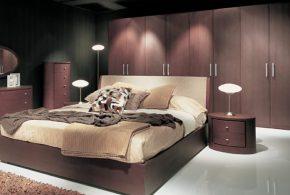 Спальня spa60358 по индивидуальным размерам на заказ, материалы из лдсп мдф расцветка — коричневый в интернет магазине mebelblok.ru