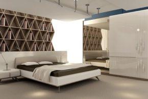 Спальня spa68975 по индивидуальным размерам на заказ, материалы из лдсп мдф расцветка — бежевый белый в интернет магазине mebelblok.ru