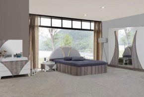 Спальня spa44811 по индивидуальным размерам на заказ, материалы из лдсп мдф эмали расцветка — бежевый белый в интернет магазине mebelblok.ru