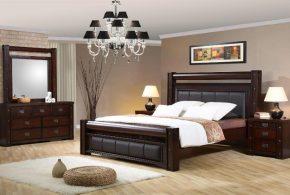Спальня spa99908 по индивидуальным размерам на заказ, материалы из массива дерева лдсп мдф расцветка — коричневый в интернет магазине mebelblok.ru