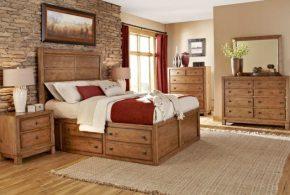 Спальня spa68350 по индивидуальным размерам на заказ, материалы из массива дерева лдсп мдф расцветка — коричневый в интернет магазине mebelblok.ru