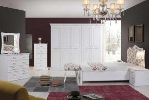 Спальня spa22132 по индивидуальным размерам на заказ, материалы из массива дерева лдсп мдф расцветка — белый в интернет магазине mebelblok.ru