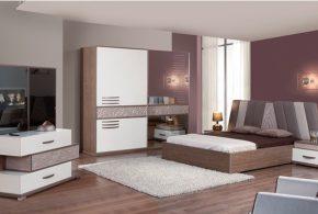 Спальня spa20543 по индивидуальным размерам на заказ, материалы из лдсп мдф расцветка — lyuboi-na-vyborв интернет магазине mebelblok.ru