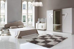 Спальня spa16444 по индивидуальным размерам на заказ, материалы из лдсп мдф эмали расцветка — бежевый белый в интернет магазине mebelblok.ru