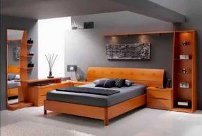 Спальня spa76150 по индивидуальным размерам на заказ, материалы из массива дерева лдсп мдф расцветка — коричневый в интернет магазине mebelblok.ru