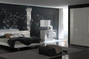 Спальня spa70542 по индивидуальным размерам на заказ, материалы из лдсп мдф эмали расцветка — белый серый в интернет магазине mebelblok.ru