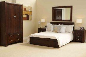 Спальня spa77082 по индивидуальным размерам на заказ, материалы из массива дерева лдсп мдф расцветка — коричневый в интернет магазине mebelblok.ru