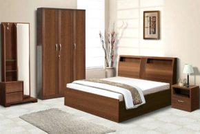 Спальня spa76772 по индивидуальным размерам на заказ, материалы из массива дерева лдсп мдф расцветка — коричневый в интернет магазине mebelblok.ru