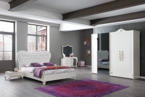 Спальня spa23216 по индивидуальным размерам на заказ, материалы из лдсп мдф эмали расцветка — белый в интернет магазине mebelblok.ru