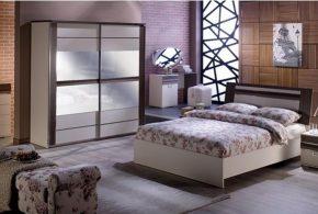 Спальня spa63996 по индивидуальным размерам на заказ, материалы из лдсп мдф расцветка — коричневый бежевый в интернет магазине mebelblok.ru
