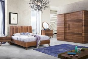 Спальня spa53146 по индивидуальным размерам на заказ, материалы из лдсп мдф расцветка — коричневый в интернет магазине mebelblok.ru