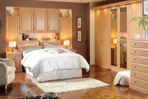 Спальня spa73086 по индивидуальным размерам на заказ, материалы из массива дерева лдсп мдф расцветка — бежевый в интернет магазине mebelblok.ru