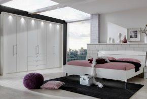 Спальня spa84883 по индивидуальным размерам на заказ, материалы из лдсп мдф эмали расцветка — белый в интернет магазине mebelblok.ru