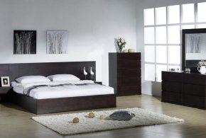 Спальня spa19051 по индивидуальным размерам на заказ, материалы из лдсп мдф расцветка — коричневый в интернет магазине mebelblok.ru