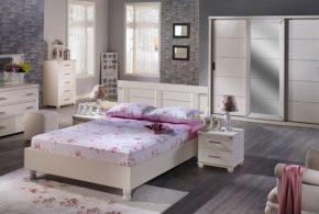 Спальня spa32666 по индивидуальным размерам на заказ, материалы из лдсп мдф расцветка — бежевый в интернет магазине mebelblok.ru