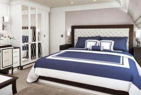 Спальня spa51054 по индивидуальным размерам на заказ, материалы из лдсп мдф расцветка — черно-белый белый черный в интернет магазине mebelblok.ru