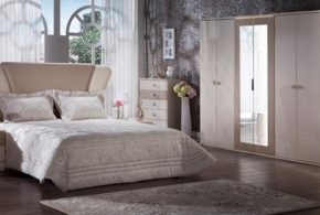 Спальня spa75171 по индивидуальным размерам на заказ, материалы из лдсп мдф расцветка — белый в интернет магазине mebelblok.ru