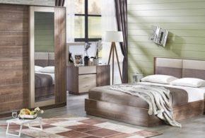 Спальня spa59501 по индивидуальным размерам на заказ, материалы из лдсп мдф расцветка — коричневый бежевый в интернет магазине mebelblok.ru