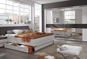 Спальня spa78480 по индивидуальным размерам на заказ, материалы из лдсп мдф расцветка — серый в интернет магазине mebelblok.ru