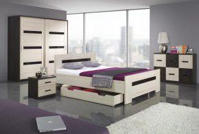 Спальня spa89075 по индивидуальным размерам на заказ, материалы из лдсп мдф расцветка — коричневый бежевый в интернет магазине mebelblok.ru