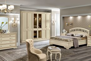 Спальня spa93709 по индивидуальным размерам на заказ, материалы из массива дерева лдсп мдф расцветка — бежевый в интернет магазине mebelblok.ru