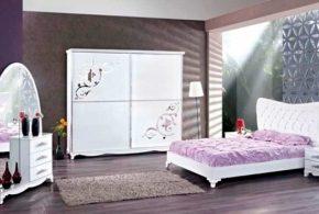 Спальня spa77727 по индивидуальным размерам на заказ, материалы из лдсп мдф эмали расцветка — белый в интернет магазине mebelblok.ru
