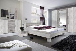 Спальня spa65244 по индивидуальным размерам на заказ, материалы из лдсп мдф расцветка — белый серый в интернет магазине mebelblok.ru