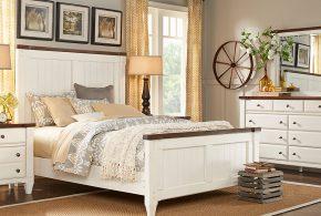 Спальня spa46173 по индивидуальным размерам на заказ, материалы из массива дерева лдсп мдф расцветка — коричневый белый в интернет магазине mebelblok.ru