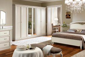 Спальня spa69313 по индивидуальным размерам на заказ, материалы из массива дерева лдсп мдф расцветка — белый в интернет магазине mebelblok.ru