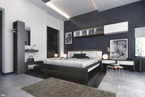 Спальня spa36528 по индивидуальным размерам на заказ, материалы из массива дерева лдсп мдф расцветка — белый серый в интернет магазине mebelblok.ru